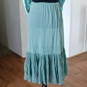 Vintage Sage Green Slip / Dress Extender